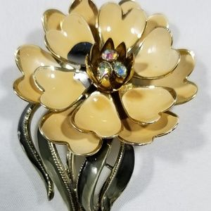 Signed vintage custom jewelry brooches pin enamel